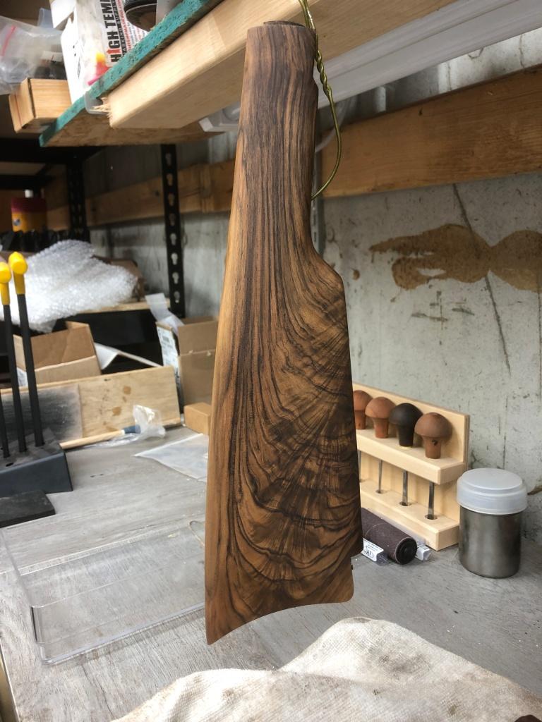 New highly figured English Walnut buttstock