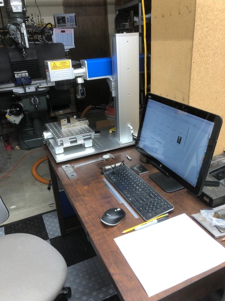 30W fiber MOPA laser